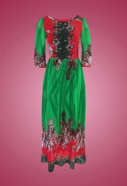 Đầm voan hoa văn