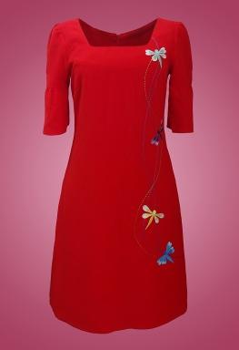Đầm cổ vuông
