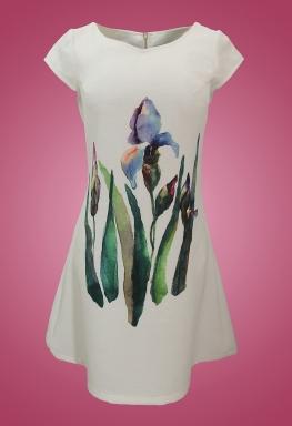Đầm bông 3D cổ tròn